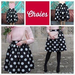 Choies Polka Dot Skater Skirt